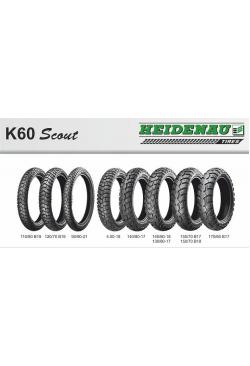 Heidenau K60 Scout 110/80B19 59T M/C M+S DOT 25-49/2017